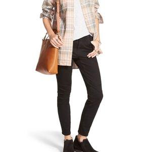 Madewell Black High Riser Skinny Jeans Sz 27